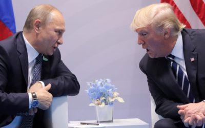 Владимир Путин и Дональд Трамп. Первая встреча.